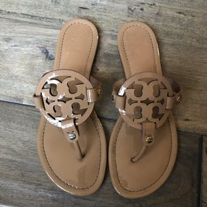 Tory Burch Miller Sandals patent brown 9